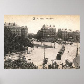 Coloque a Darcy vintage de Dijon Francia Poster