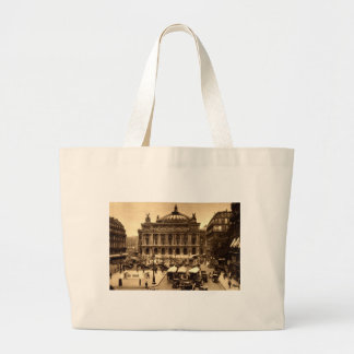 Coloque a de l'Opera, vintage de París Francia c19 Bolsa Tela Grande
