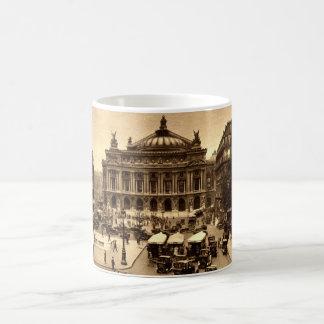 Coloque a de l'Opera, vintage de París Francia c19 Tazas