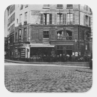 Coloque Gozlin, París c.1865 Pegatina Cuadrada