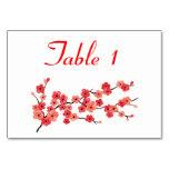 Coloque la tarjeta con las flores de cerezo