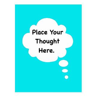 Coloque su gráfico divertido del humor del postales