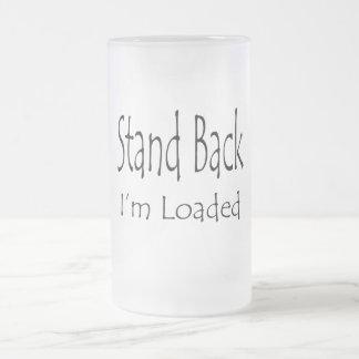 Coloqúeme detrás se cargan taza de cristal