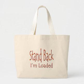 Coloqúeme detrás son ylw cargado bolsa tela grande