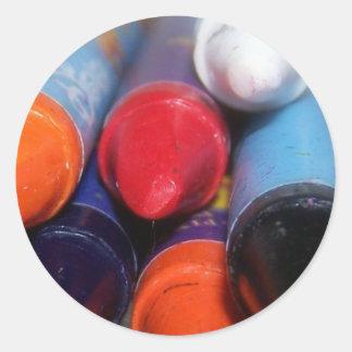 color2 classic round sticker