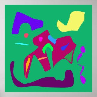 Color 11 del invierno de la estación del arte cont poster