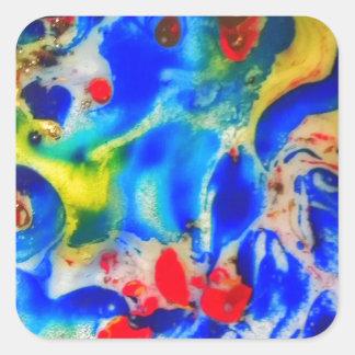 Color 123 Art Square Sticker