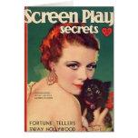 Color 1930 de la portada de revista de Roy del La  Felicitación