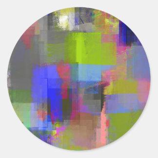color (23) .jpg abstractos pegatina redonda
