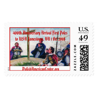 color 2, 400th Anniversary Arrival First Poles ... Postage Stamp