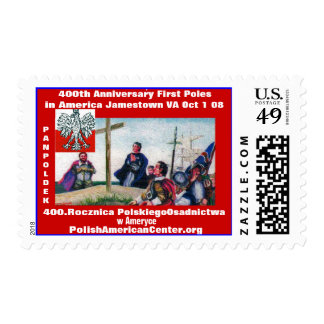 color 2, 400th Anniversary First Poles in Ameri... Postage