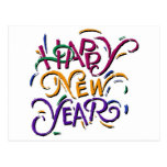 Color 2 de la Feliz Año Nuevo Postal