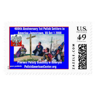 color 2, stamp, 400th Anniversary First Polish ... Stamp