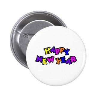 Color 4 de la Feliz Año Nuevo Pins