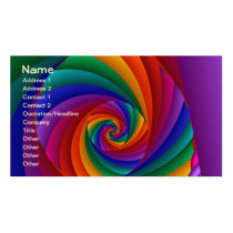 Color 6 Cool Modern Abstract Art Double-Sided Standard Business Cards (Pack Of 100)