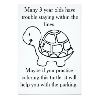 Color a turtle for a better parking card
