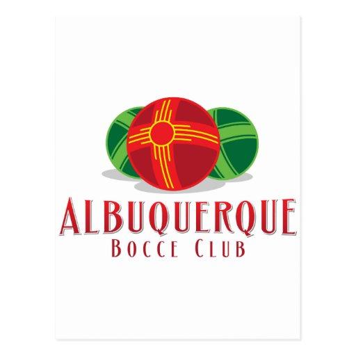 Color ABQ Bocce Club Postcard