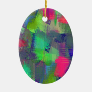 color abstract (11) ceramic ornament