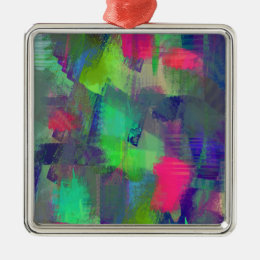 color abstract (11) metal ornament