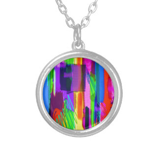 color abstract (15) round pendant necklace