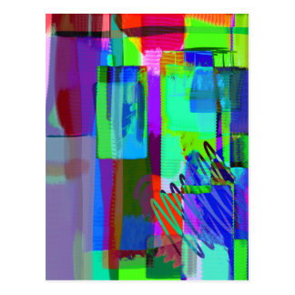 color abstract (2) postcard