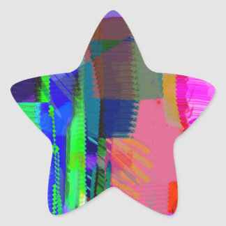 color abstract (34) star sticker