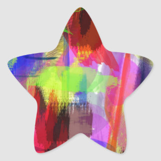 color abstract (8) star sticker