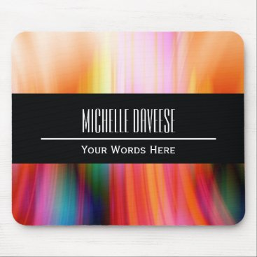 Color Abstract and Black Business Set   Mousepad