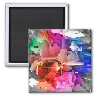 Color Abstract Art Fragments Magnet