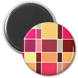 Color Abstract Composition 2 Inch Round Magnet