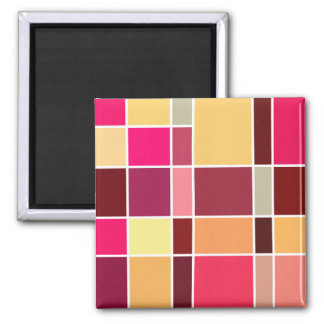 Color Abstract Composition 2 Inch Square Magnet