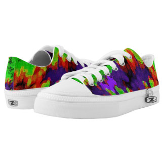 Color abstract fashion printed shoes