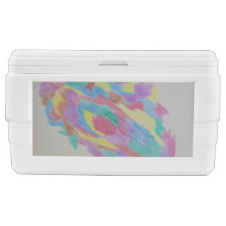 Color abstraction chest cooler