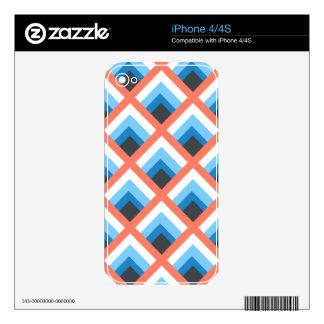 Color abstracto azul rosado de los diseños calcomanías para el iPhone 4S