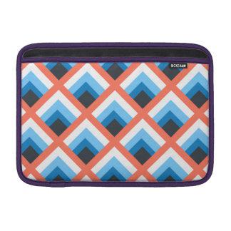 Color abstracto azul rosado de los diseños funda  MacBook