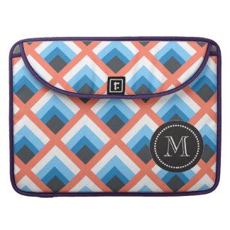 Color abstracto azul rosado de los diseños fundas para macbooks