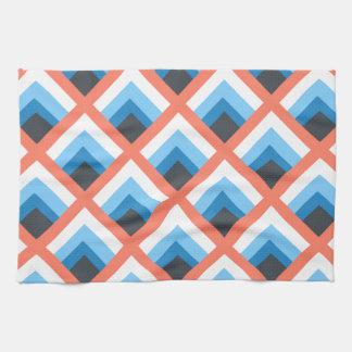Color abstracto azul rosado de los diseños toalla