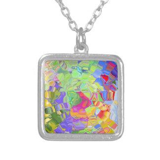 Color abstracto colgante cuadrado