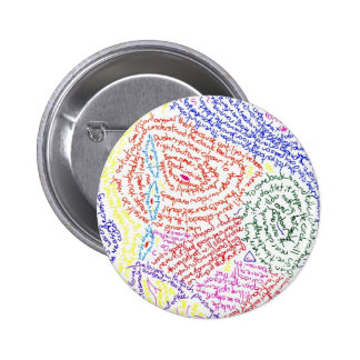 Color abstracto colorido de la imagen del dibujo d pin redondo de 2 pulgadas