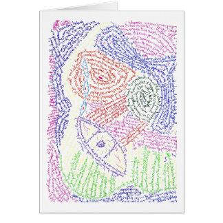 Color abstracto colorido de la imagen del dibujo d felicitaciones