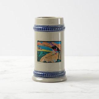 color abstracto del golf jarra de cerveza