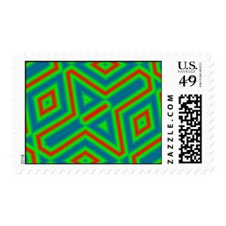 Color abstracto del modelo 3 sello