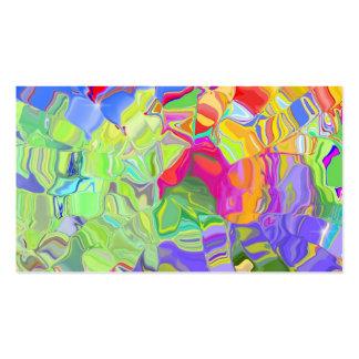 Color abstracto tarjetas personales