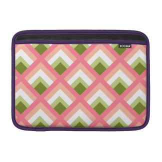 Color abstracto verde rosado de los diseños funda  MacBook
