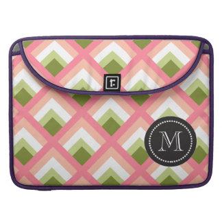 Color abstracto verde rosado de los diseños funda macbook pro