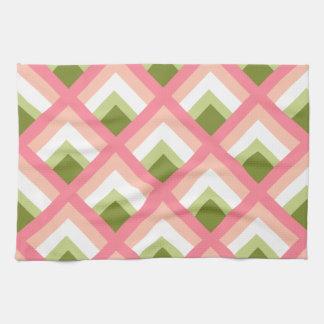 Color abstracto verde rosado de los diseños toallas de mano