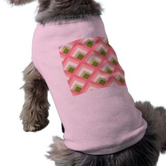 Color abstracto verde rosado de los diseños playera sin mangas para perro