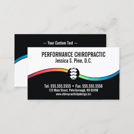 Color Accent Standard Chiropractic Business Cards