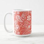 Color agridulce Paisley; Floral Tazas