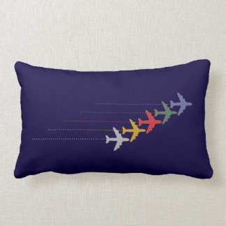 color airplanes air-themed pillow